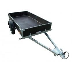 Sklopný přívěsný vozík PV1 PROFI nebrzděný, 750 kg zesílená náprava
