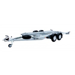 Autopřepravník PA1 brzděný, 2000 kg, 4200 x 1920 mm, 100 km/h