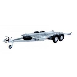Autopřepravník PA1 brzděný, 2460 kg, 4000 x 1920 mm, 100 km/h