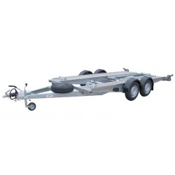 Autopřepravník PA1 ALU brzděný, 2000 kg, 4000 x 1920 mm, 130 km/h