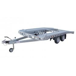 Autopřepravník PAV1 brzděný, 2000 kg, 4010 x 2020 mm, 100 km/h