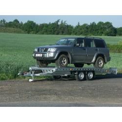 Autopřepravník PAV1 brzděný, 2000 kg, 4210 x 2020 mm, 130 km/h