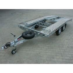 Autopřepravník PAV1 ALU brzděný, 2000 kg, 4010 x 1920 mm, 130 km/h