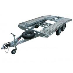 Autopřepravník PAV1 ALU brzděný, 2000 kg, 4010 x 2020 mm, 130 km/h