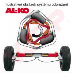 Náprava na přívěsný vozík AL-KO Plus UBR 1200-5, 1300 kg, 1150 mm, 100x4