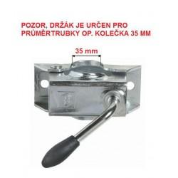 Držák opěrného kolečka 35 mm KLE 35, plech