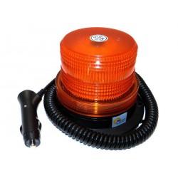 LED maják s magnetem, kroucený kabel, IP 56, 12/24 60 LED