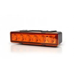 Výstražná záblesková svítilna oranžová WAS, barevné sklíčko