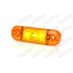 Svítilna boční obrysová LED WAS W97.1, 12-24V, plochá