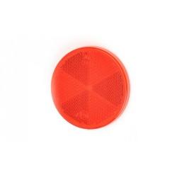 Odrazka červená kulatá pr. 61 mm WAS samolepicí