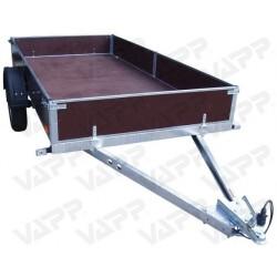 Sklopný přívěsný vozík PV1 PROFI nebrzděný, 3030x1530 mm, 750 kg, zesílená náprava