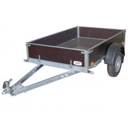 Sklopný přívěsný vozík PV1 nebrzděný, 2100x1280 mm, 750 kg