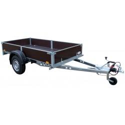 Přívěsný vozík PV1 PROFI brzděný, 2530x1280 mm, 1000 kg, 130km/h