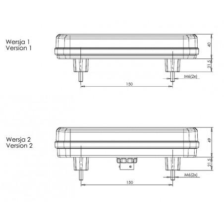 Koncové světlo W150DD/1123 levé / pravé 12 / 24V