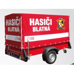 Přívěsný vozík pro hasiče SPECTRUM B08.25 s plachtou 135 cm