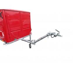 Nebrzděný přívěsný vozík pro hasiče, 750 kg, - přestavba skříně PS12 na nový podvozek