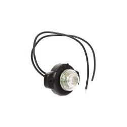 Svítilna přední obrysová LED WAS W24, 12-24V, kulatá malá