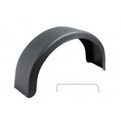 Blatník plast 13'' / 200 mm DOMAR černý oblý