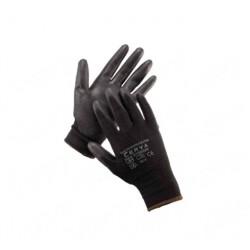 Rukavice BUNTING nylon PU velikost XL černé