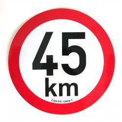 Omezení rychlosti 45 km...