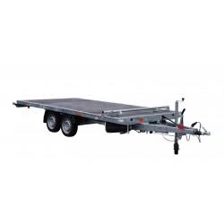 Přívěsný vozík JUMBO 27.4 brzděný, 2700 kg, plato se stavitelnou dorazovou tyčí