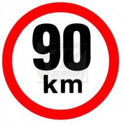 Rychlost 90 km/h - samolepka