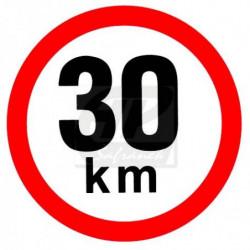 Rychlost 30 km/h - samolepka
