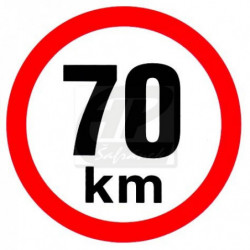 Rychlost 70 km/h - samolepka