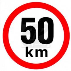 Rychlost 50 km/h - samolepka