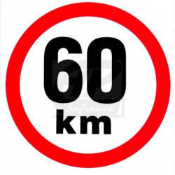 Rychlost 60 km/h - samolepka