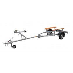 Přívěsný vozík na přepravu člunů Falkon-double 1 brzděný, 1000 kg