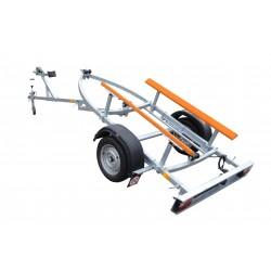 Přívěsný vozík na přepravu člunů Falkon-double 2 brzděný, 1300 kg