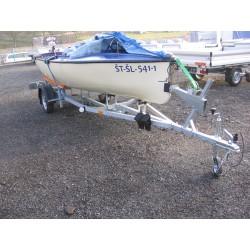 Přívěsný vozík na přepravu člunů Falkon 08.16 R13 nebrzděný, 750 kg