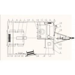 Stavební buňka Mobi 32-3201 brzděný, 1300 kg