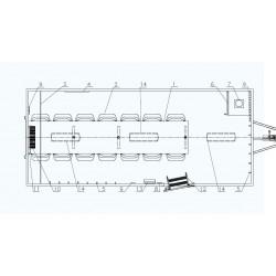 Stavební buňka Mobi 56-5600 brzděný, 2000 kg