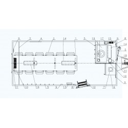 Stavební buňka Mobi 56-5611 brzděný, 2000 kg