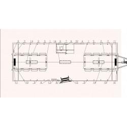 Stavební buňka Mobi 66-6600 brzděný, 2000 kg