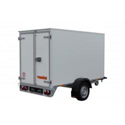 Překližkový skříňový přívěsný vozík PS 23 B 1000 brzděný, 1000 kg