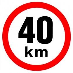 Samolepka rychlosti 40 km