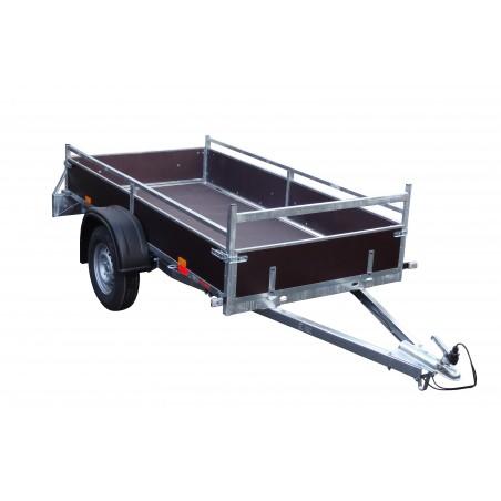 Přívěsný vozík VARIO A 08.2 nebrzděný, 750 kg s předním otevíracím čelem