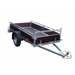 Přívěsný vozík VARIO A 08.2 nebrzděný, 750 kg, přední čelo otevírací, zesílená náprava
